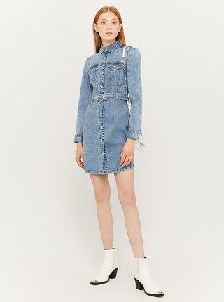 Světle modré džínové košilové šaty TALLY WEiJL