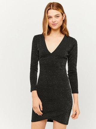 Černé třpytivé pouzdrové šaty TALLY WEiJL