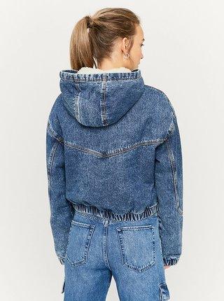Modrá džínová bunda s kapucí TALLY WEiJL