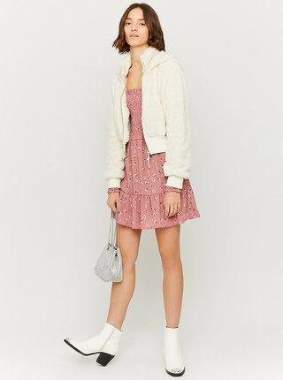 Krémová bunda z umělého kožíšku TALLY WEiJL