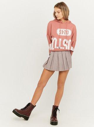 Světle růžová kostkovaná sukně/kraťasy TALLY WEiJL