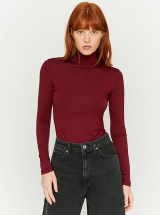 Tričká s dlhým rukávom pre ženy TALLY WEiJL - vínová