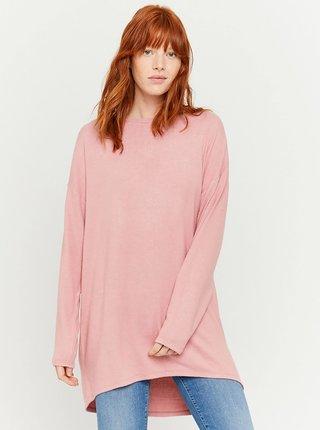 Růžový dlouhý lehký svetr TALLY WEiJL