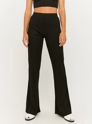 Černé flared fit kalhoty TALLY WEiJL