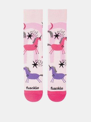 Růžové ponožky Fusakle Jednorožec