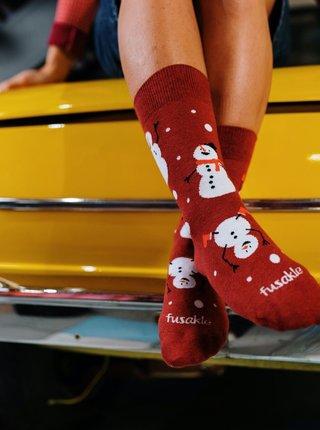 Vínové vzorované ponožky Fusakle Gulimen