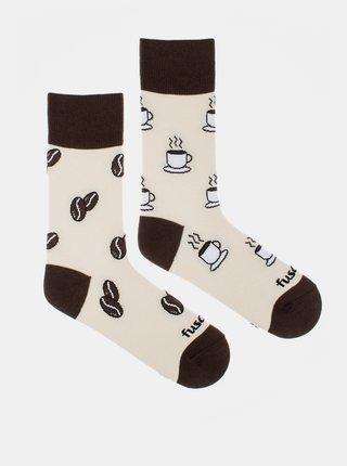 Krémové vzorované ponožky Fusakle Životabudič