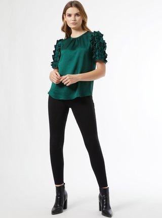 Tmavě zelená halenka Dorothy Perkins