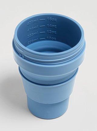Modrý cestovní skládací kelímek Stojo 470 ml