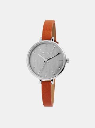 Dámske hodinky s oranžovým remienkom Excellanc