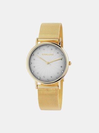 Dámské hodinky s nerezovým páskem ve zlaté barvě Excellanc