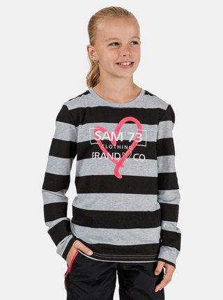 Černo-šedé holčičí pruhované tričko SAM 73