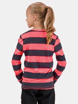 Růžovo-šedé holčičí pruhované tričko SAM 73 Hope