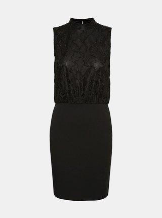 Černé pouzdrové šaty se stojáčkem VERO MODA
