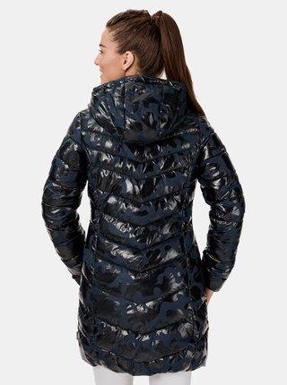 Modrý dámský prošívaný vzorovaný kabát SAM 73 Alisha