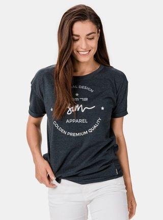 Tmavě šedé dámské tričko s potiskem SAM 73 Annabel