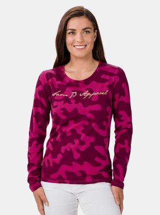 Ružové dámske vzorované tričko SAM 73