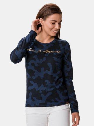 Modré dámske vzorované tričko SAM 73