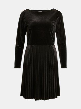 Černé sametové šaty VILA