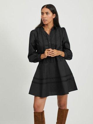 Černé košilové šaty VILA-Elon