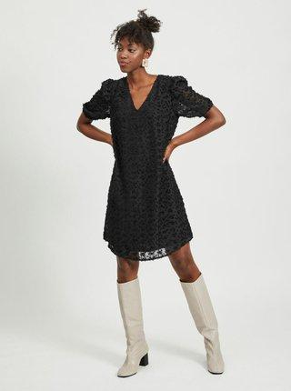 Čierne vzorované šaty VILA