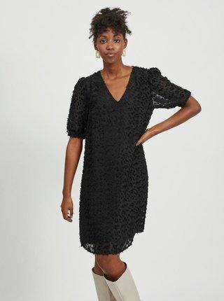 Černé vzorované šaty VILA