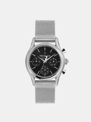 Pánske hodinky s oceľovým remienkom v striebornej farbe Trussardi