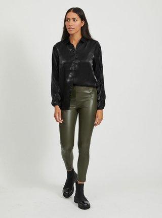 Černá lesklá košile VILA-Leina