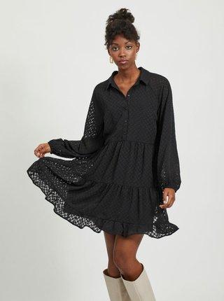 Černé vzorované košilové šaty VILA-Partisan