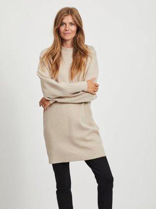 Béžové svetrové šaty VILA
