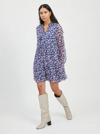 Modré vzorované šaty VILA