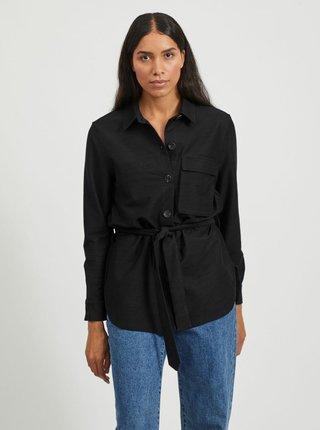 Čierna košeľa so zaväzovaním .OBJECT