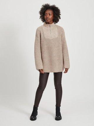 Béžový svetr s příměsí vlny z alpaky .OBJECT