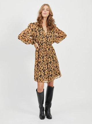Žlté kvetované šaty .OBJECT