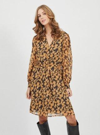 Žluté květované šaty .OBJECT