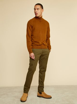 Khaki pánské chino kalhoty ZOOT Baseline Emanuel