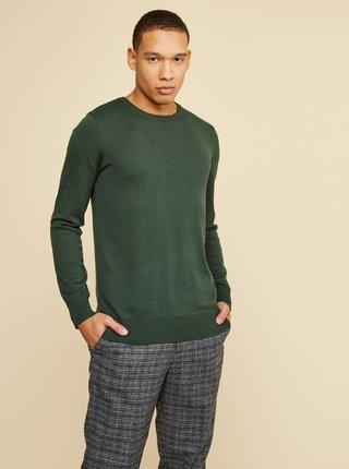 Tmavě zelený pánský basic svetr ZOOT Baseline Ferit