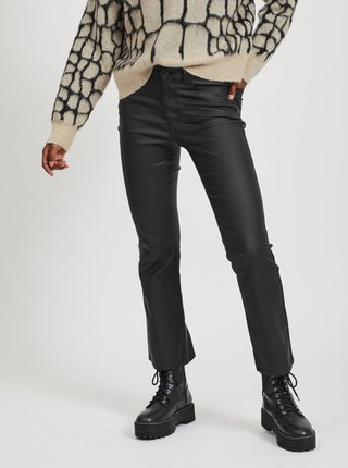 Černé koženkové kalhoty .OBJECT