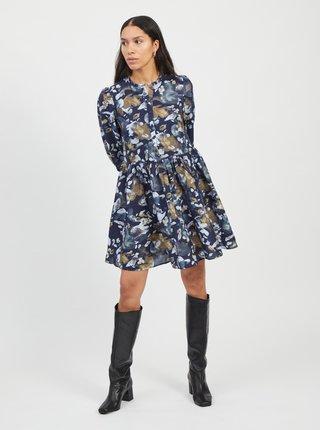 Modré vzorované šaty .OBJECT