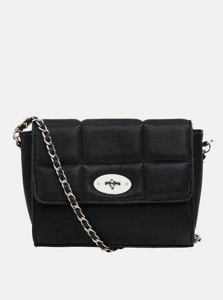 Černá kožená crossbody kabelka .OBJECT-Jessie