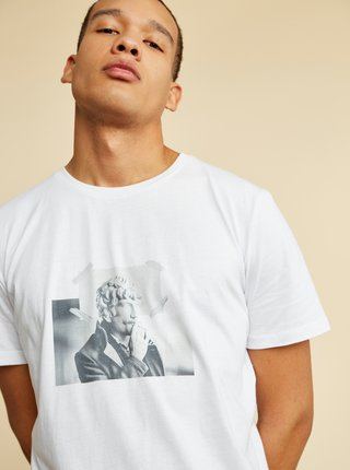 Bílé pánské tričko s potiskem ZOOT Brody