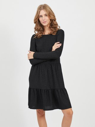 Černé třpytivé šaty VILA