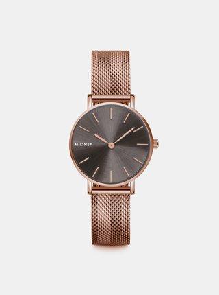 Dámské hodinky s nerezovým páskem v růžovozlaté barvě Millner Mini