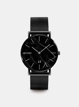 Dámské hodinky s černým nerezovým páskem Millner