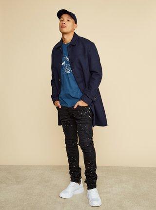 Modré pánske tričko s potlačou ZOOT Brody