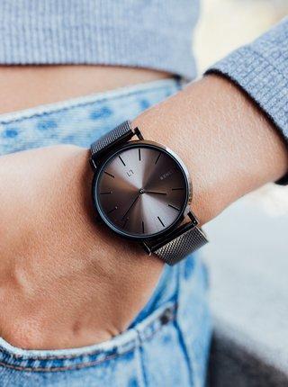 Dámské hodinky s šedým nerezovým páskem Millner Mayfair