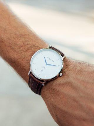 Pánské hodinky s hnědým koženým páskem Millner Regents