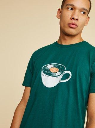 Zelené pánske tričko s potlačou ZOOT Brody