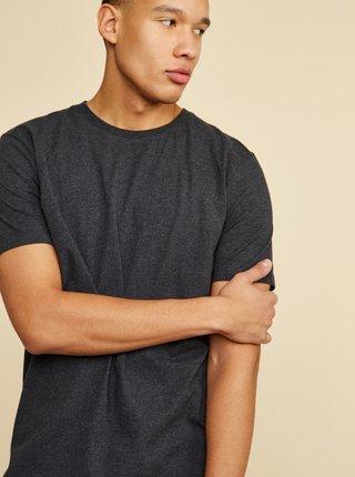 Tmavě šedé pánské basic tričko ZOOT David