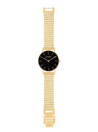Dámské hodinky s nerezovým páskem ve zlaté barvě  Clueless